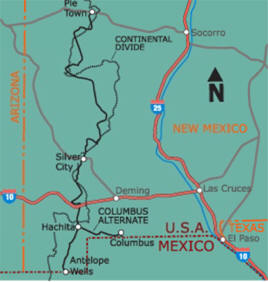 Discover Columbus New Mexico Continental Divide Hiking And - Us continental divide map